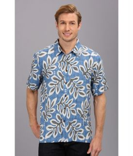 Quiksilver Waterman North Reef S/S Shirt Mens Short Sleeve Button Up (Blue)