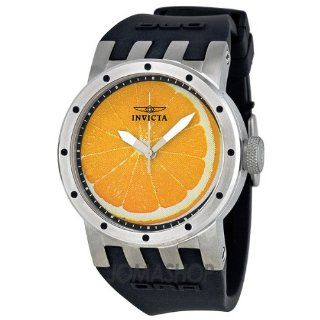 Invicta DNA Recycled Art Orange Dial Stainless Steel Black Rubber Ladies Watch 10439 Invicta Watches