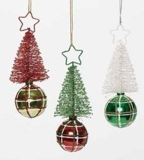 24 Holiday Pop Glittered Red, Green and White Tree Plaid Ball Christmas Ornament   Decorative Hanging Ornaments