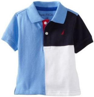 Nautica Sportswear Kids Baby Boys Infant Short Sleeve Pieced Polo Shirt, Summer Blue, 12 Months Infant And Toddler Polo Shirts Clothing