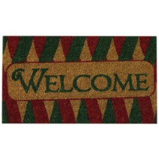 Entryways Welcome Ribbons Hand Woven Coir Doormat, 18 by 30 Inch  Welcome Holiday Mat  Patio, Lawn & Garden