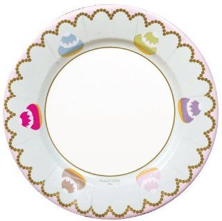"Paper Plates Party Supplies Wedding Birthday Dessert Plates or Salad Plates Decorative Colored Round 8"" Macaroons Health & Personal Care"