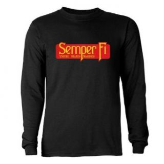 Artsmith, Inc. Long Sleeve Dark T Shirt Semper Fi Marine Corps Clothing