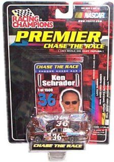 Racing Champions   NASCAR   Premier Chase the Race   Ken Schrader   Snickers #36   Chrome Chase Car Replica w/Custom Car Cover, Collector Card and Display Stand Toys & Games