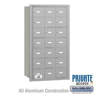 Salsbury Industries 3621ARP 21 Door 4B+ Horiz Mailbox in Aluminum   Rear Loading Private Access  Security Mailboxes  Patio, Lawn & Garden