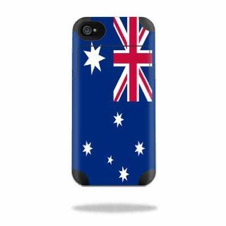 MightySkins Protective Vinyl Skin Decal Cover for Mophie Juice Pack Air Apple iPhone 4/4S Battery Case Sticker Skins Australian Flag Cell Phones & Accessories