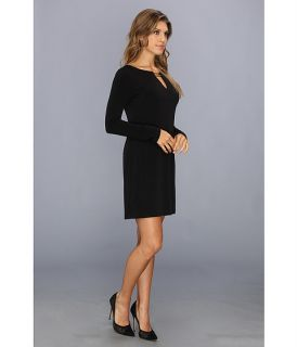 Vince Camuto Long Sleeve Shift Dress w/ Hardware Detail
