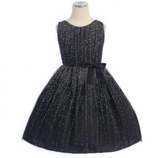 Sweet Kids Girls Size 8 Black Starry Gradient Mesh Christmas Dress Sweet Kids Clothing