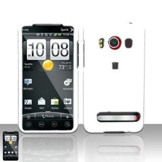 HTC Evo 4G Case Nice White Hard Cover Protector (Sprint) with Free Car Charger + Gift Box By Tech Accessories Cell Phones & Accessories