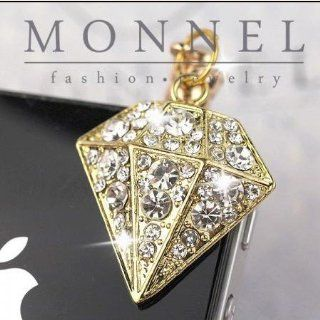 "Ip278 Cute ""Diamond"" Shape Anti Dust Plug Cover Charm for Iphone Android 3.5mm Cell Phones & Accessories"