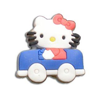 Hello Kitty in car   style your Crocs shoe Charm #1558, Clogs stickers  fun Clip Brooches And Pins Jewelry
