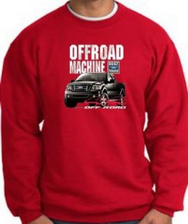 Ford Truck 4X4 OFFROAD MACHINE F 150 Classic Adult Sweatshirt   Red Clothing