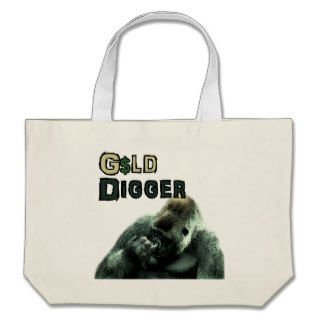 Slightly Less Funny Geeky Nose picking Gorilla Canvas Bags