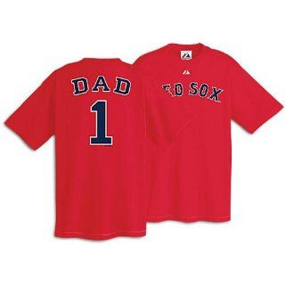 Boston Red Sox Team Dad T Shirt By Majestic Athletic Large  Sports Fan T Shirts  Sports & Outdoors