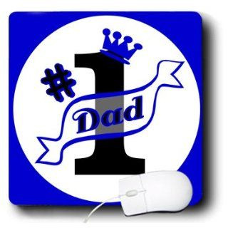 mp_10775_1 Janna Salak Fathers Day Gifts   Number One Dad Blue   Mouse Pads Computers & Accessories