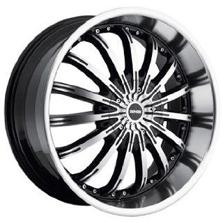 Dropstars 640 22x9.5 Machined Black Wheel / Rim 5x4.5 & 5x4.75 with a 18mm Offset and a 83.82 Hub Bore. Partnumber 640MB 2290418 Automotive