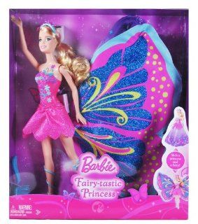 Barbie Year 2009 Fairy Series 12 Inch Tall Doll  Fairy tastic Princess with Hairbrush and Fairy Wings That Changed to Princess Gown (T4552) Toys & Games