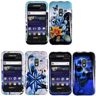 iFase Brand Samsung Galaxy Attain 4G R920 Combo Yellow Lily Protective Case Faceplate Cover + Blue Skull Protective Case Faceplate Cover + Blue Splash Protective Case Faceplate Cover for Samsung Galaxy Attain 4G R920 Cell Phones & Accessories