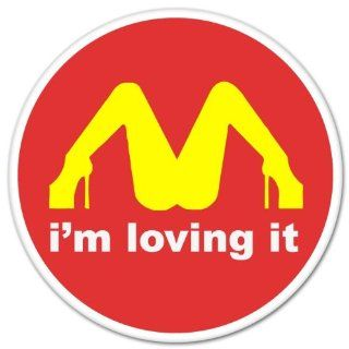"I'M Loving It McDonald's Funny car bumper sticker window decal 4"" x 4"" Automotive"