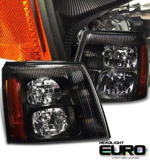 Cadillac 2002 2006 Cadillac Escalade Suv Black W/O Hid Type Headlight Performance Automotive
