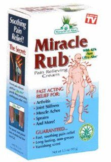 Miracle Rub Pain Relieving Cream 3.5 Oz Say Goodbye to Tired, Aching Muscles and Joints Due to Arthritis, Rheumatism and Bursitis. Penetrates Deep and Provides Soothing Pain Relief Quick Fast Acting Ingredients Provide Relief of Minor Muscular Aches and P