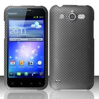 CARBON FIBER Design Hard Plastic Matte Case for Huawei Mercury / Glory M886 (Cricket) [In Twisted Tech Retail Packaging] Cell Phones & Accessories