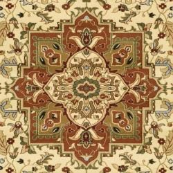 Lyndhurst Collection Ivory/ Rust Oriental Rug (9' x 12') Safavieh 7x9   10x14 Rugs