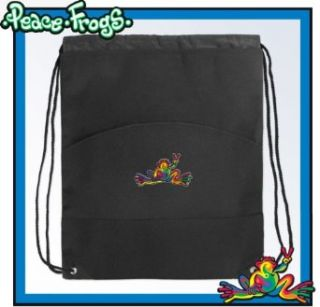 Peace Frogs Drawstring Bag Cinch Super Cool Draw String Back Pack Bag Clothing