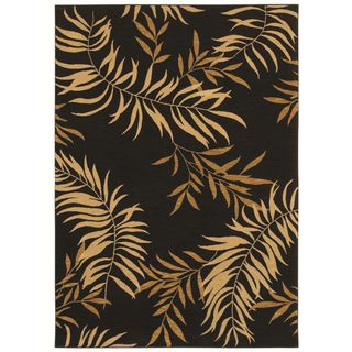Tommy Bahama Florist Greens Black Home Rug (3'6 x 5') Tommy Bahama 3x5   4x6 Rugs