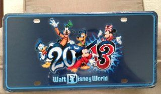 Walt Disney World Park Exclusive 2013 Metal Car License Plate Tag NEW