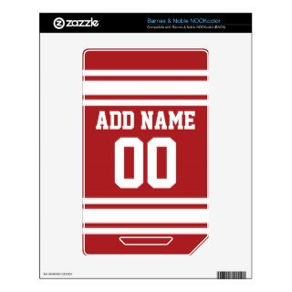 Sports Jersey with Your Name and Number Decal For The NOOK Color