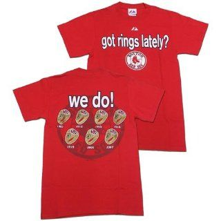 Boston Red Sox Got Rings Lately 7x World Series Champions T shirt  Sports Related Merchandise  Sports & Outdoors