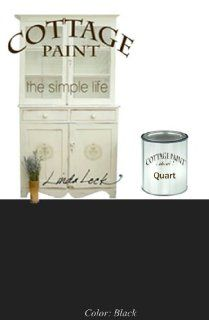 Cottage Paint   A Flat Furniture Paint That Looks Like Clay. One Quart, Color Black   House Paint