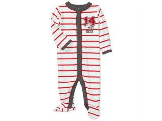 Carters Infant Boys Valentines Day Sleeper Red Stripes & Puppy Dog Baby Pajamas