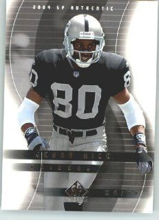 Jerry Rice   Oakland Raiders   2004 SP Authentic Card # 64   NFL Trading Card Sports Collectibles