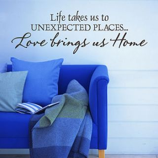 love brings us home wall sticker quote by snuggledust studios