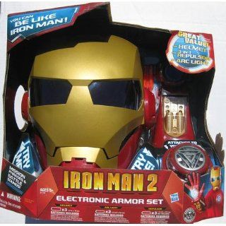 Hasbro Iron Man 2 Elecronic Armor Set Role Play Full Kit. Toys & Games