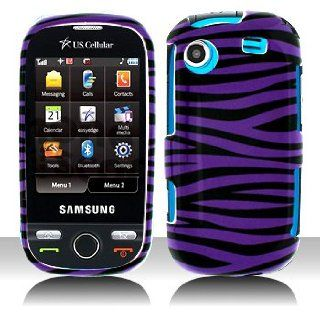 Cuffu   Purple Zebra   Samsung R630 Messenger Touch Case Cover + Screen Protector (Universal) Makes Perfect Gift In Only One LOWEST Shipping Rate $2.98   Goes With Everyday Style And Apparel Cell Phones & Accessories