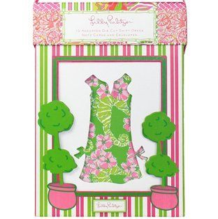 Lilly Pulitzer 10 Shift Dress Note Cards Many Patterns  Other Products