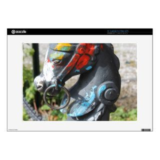 "Artsy Colorful Horse Hitching Post, New Orleans Decal For 15"" Laptop"