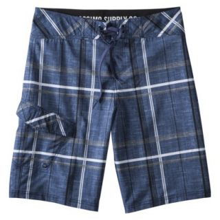 Mossimo Supply Co. Mens 11 Navy Plaid Boardshort
