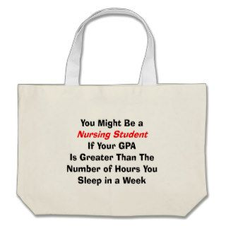 Funny Nursing Student Gifts Canvas Bags