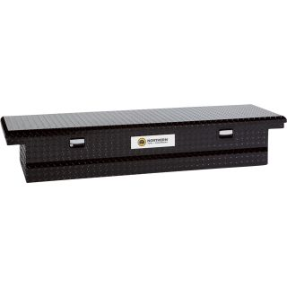 Aluminum Single-Lid Crossbed Truck Box — Black, 60 3/4in.L x 20 1/2in.W x 14in.H