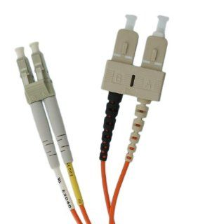 Leviton 50DCL M03 Fiber Patch Cord, 50/125um Multimode, Duplex, SC to LC, 3 Meters   Electrical Cables