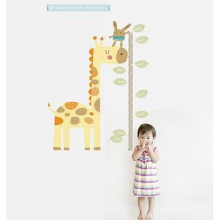 giraffe height chart fabric wall sticker by littleprints