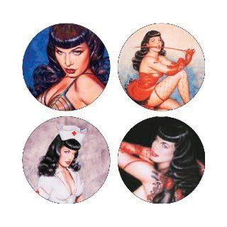 Olivia's Bettie Page Coaster Set (9781593071394) Olivia De Berardinis Books