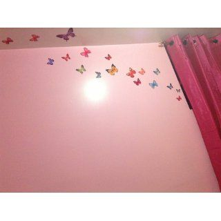 Easy Instant Home Decor Wall Sticker Decal   Vivid Colorful Butterflies Wing Span   Butterfly Decals For Girls Room