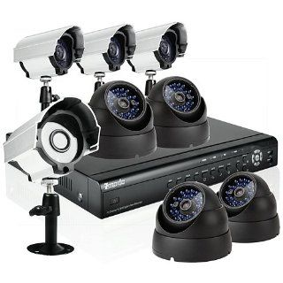 Zmodo 16CH H.264 Home Security DVR Video Surveillance CCTV Camera System With 4 Bullet 4 Dome Sony CCD Camera No Hard Drive  Complete Surveillance Systems  Camera & Photo