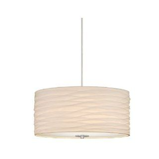 Laura Ashley Lighting PXS266 Nia Shade Pendant, Brushed Nickel   Ceiling Pendant Fixtures