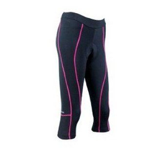 Womens Coolmax Material Cycling 3/4 Shorts Pink Trace  Cycling Compression Shorts  Sports & Outdoors